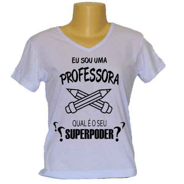 Camiseta Baby look Superpoder Professora