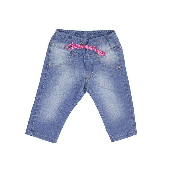 2420d2fc8ddb Calça Jeans Infantil Feminina com Elastano e lavação especial. - Up ...