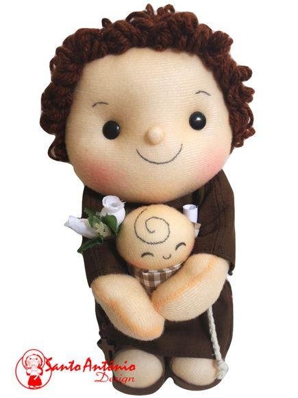 Boneco Santo Antônio Para Casamento Artesanal
