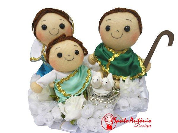 Porta Aliança para Casamento Sagrada Família Artesanal