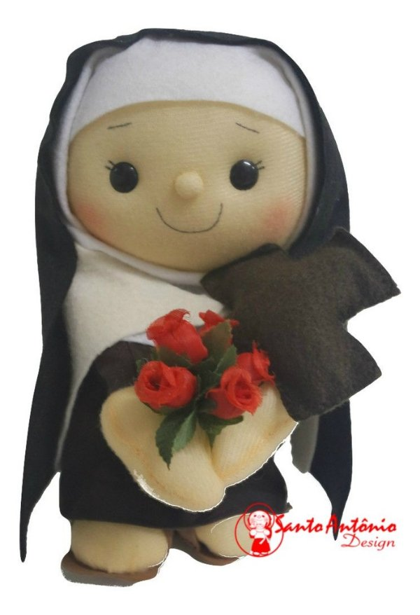 Boneca Santa Terezinha do Menino Jesus Artesanal