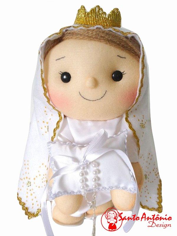 Porta Aliança para Casamento Nossa Senhora de Fátima Artesanal