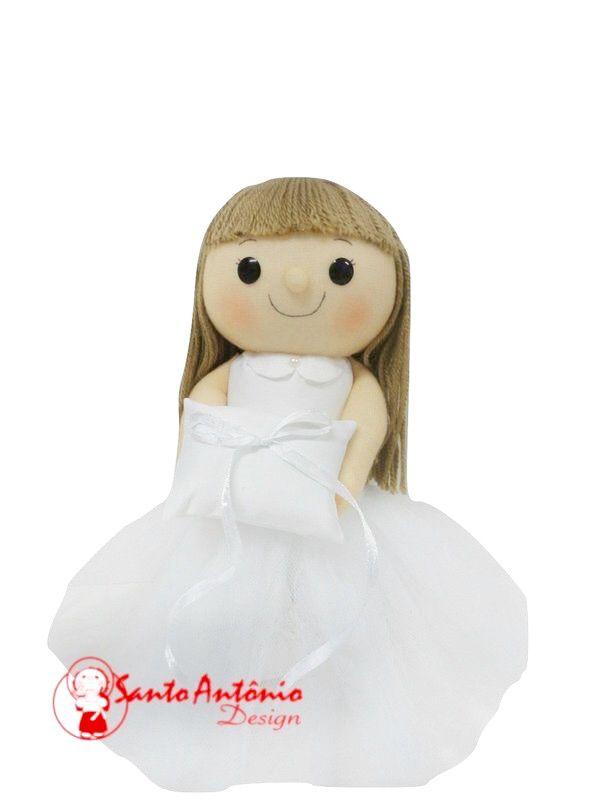 Porta Aliança para Casamento Boneca Daminha Artesanal
