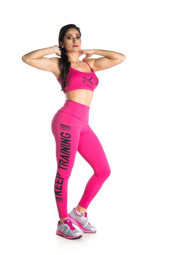 Legging Piquet Training Rosa + TOP