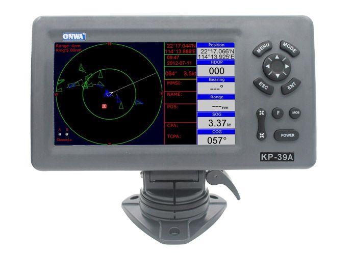 GPS 7 Polegadas com Transponder AIS Classe B Onwa KP-39A