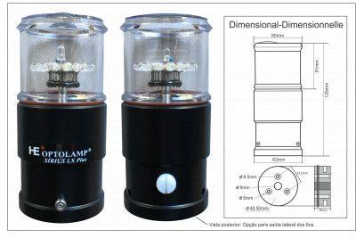 Luz de Fundeio e Estrobo Bidimensional SIRIUS LX PLUS 12V 2 em 1