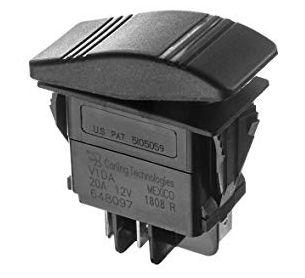 Botão Painel Marinizado Liga/Desliga Seachoice 12V 20A Preto