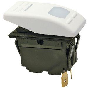 Botão Painel Liga/Desliga Iluminado Seachoice 12V 16A Branco