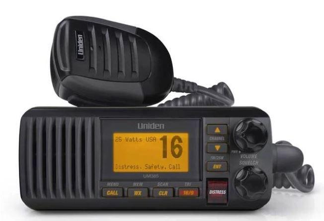 Rádio VHF Marítimo Uniden UM385BK preto