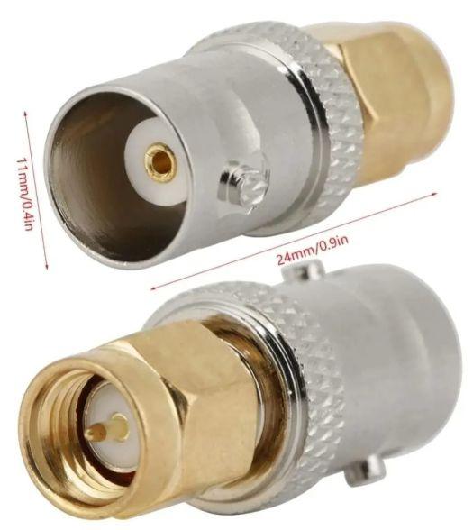 Adaptador antena de GPS conexão BNC para SMA - Conector Bnc Fêmea X Sma Macho  ONWA