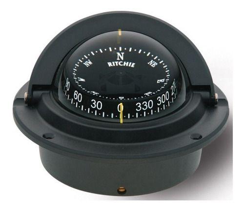 Bússola De Embutir Preta F83 Diâmetro Da Base 10,6cm Ritchie