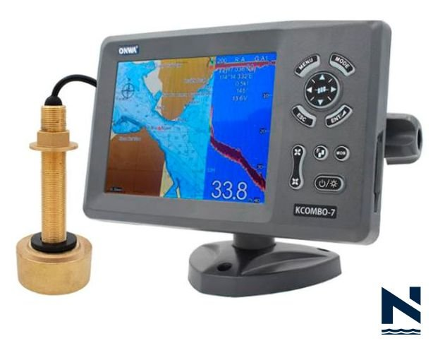 Navegador GPS SONDA Kcombo-7 transdutor BRONZE Onwa Marine