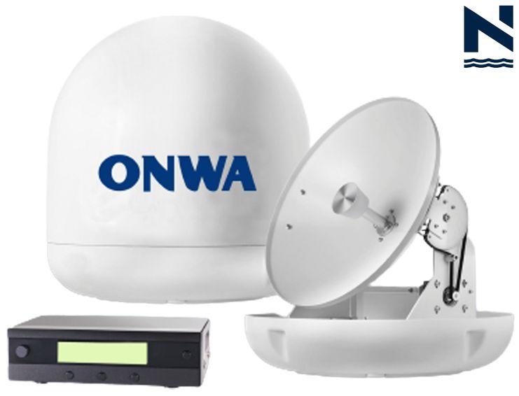 Antena estabilizada TV via satelite Onwa Marine STV TVRO M45