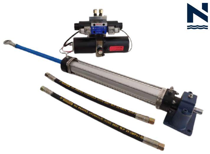 Drive atuador linear hidráulico Onwa para piloto automático