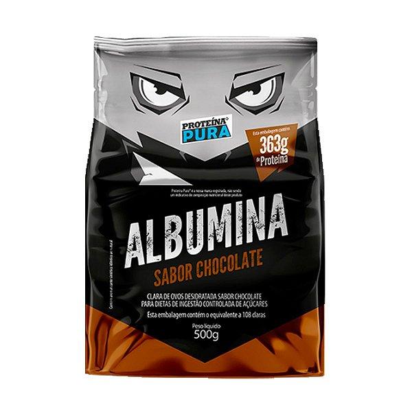 Albumina - Clara de ovo- Sabor Chocolate 500g - Proteína Pura
