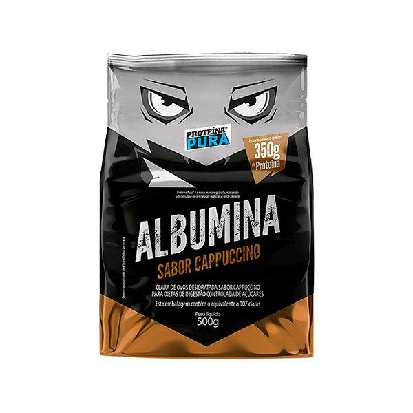 Albumina - Clara de ovo- Sabor Cappuccino 500g - Proteína Pura