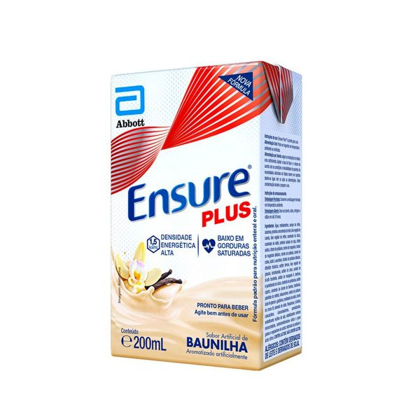 Ensure Plus 200ml - Sabor Baunilha - Abbott