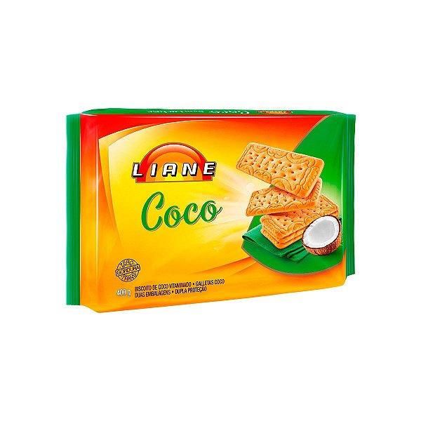 Biscoito 400g - Sabor Coco - APLV - Liane
