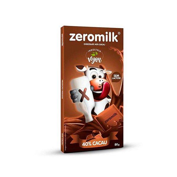 Chocolate Zero Lactose 80g - 40% Cacau - Zeromilk