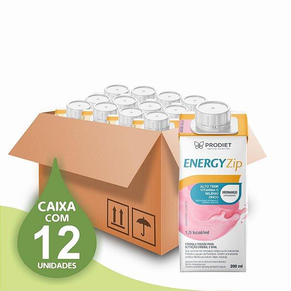 Energyzip - Morango – 200 ML - Prodiet - Caixa com 12 unidades