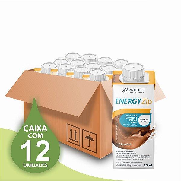 Energyzip - Chocolate – 200 ML - Prodiet - Caixa com 12 unidades