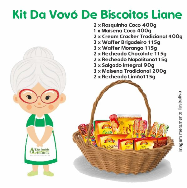 Kit Da Vovó de Biscoitos Liane - Liane