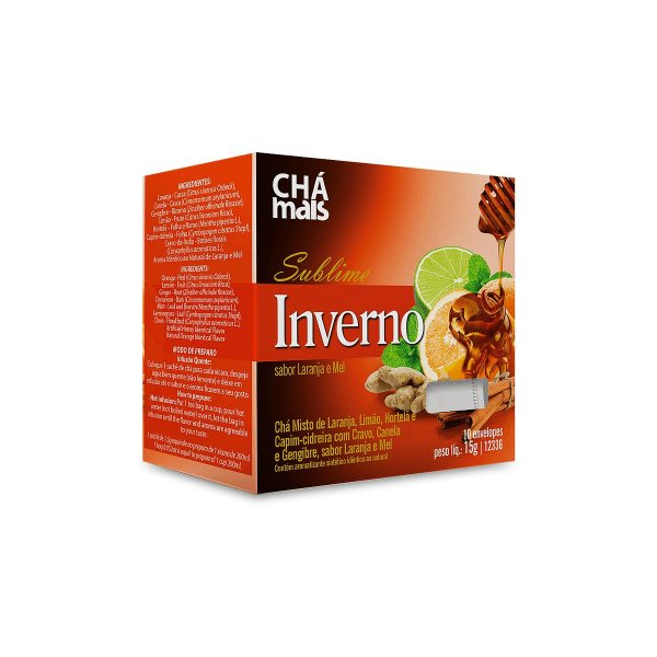 Chá Sublime Inverno - 10 Saches - Clinic Mais