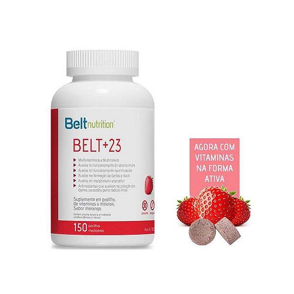 Belt +23 150 pastilhas - Sabor Morango - Beltnutririon