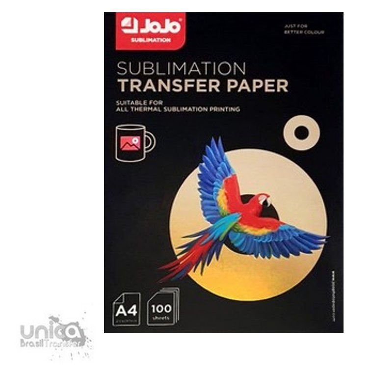 Papel Para Sublimação Pacote Com 100 folhas JoJo