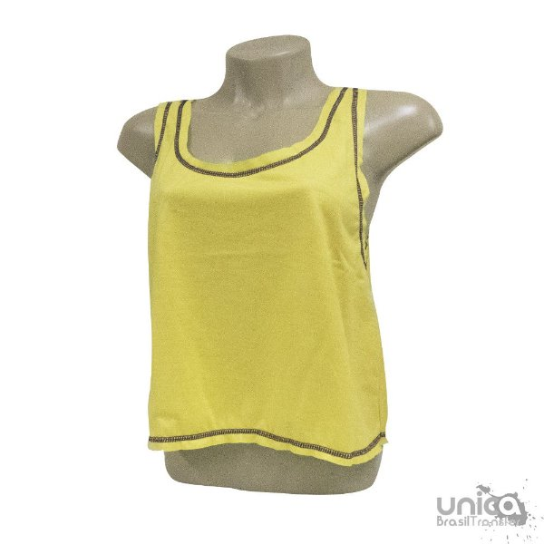 Cropped Poliester - Amarelo