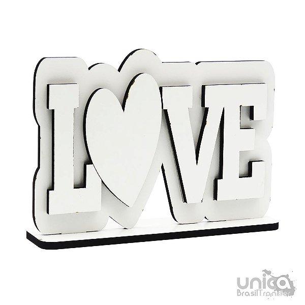 Placa de MDF - Love Horizontal Resinada Para Sublimação
