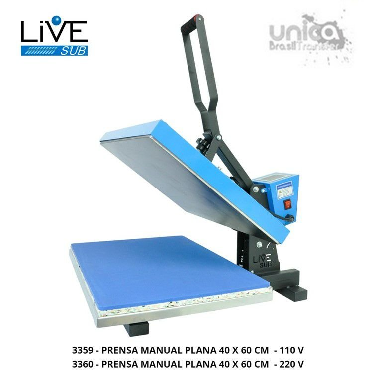 Prensa Plana 40x60 Manual - Livesub