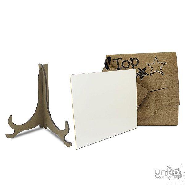 Kit Azulejo de Cerâmica 15x15 + Caixinha + Suporte