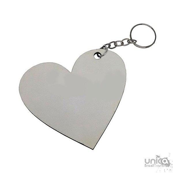 Chaveiro Coração Resinado de MDF 3mm - 10 peças