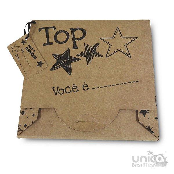 Caixinha Para Azulejo Kraft 20x20 Estrela - 10 Unidades