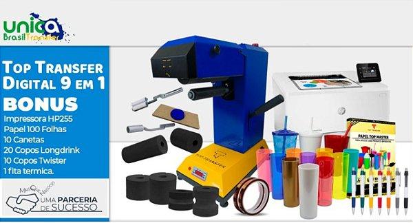 Kit Unica Rubi Classico Top Transfer 9 em 1 + Impressora a Laser