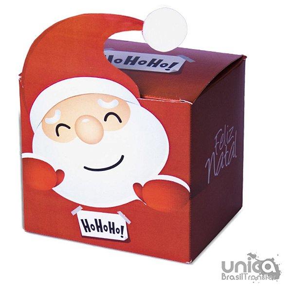 Caixinha Papai Noel Vermelho - 12 Unidades