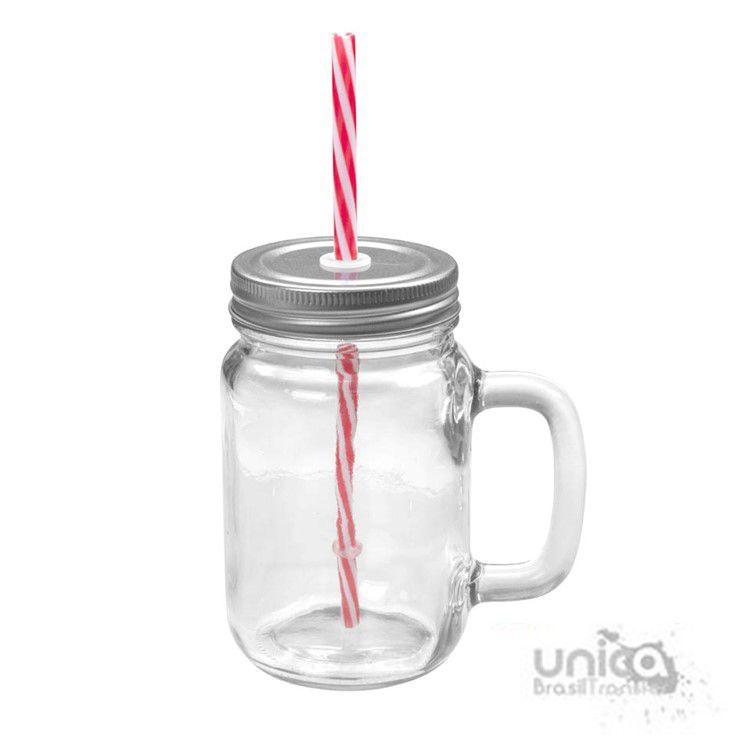 Mason Jar em Vidro Cristal 500 ml