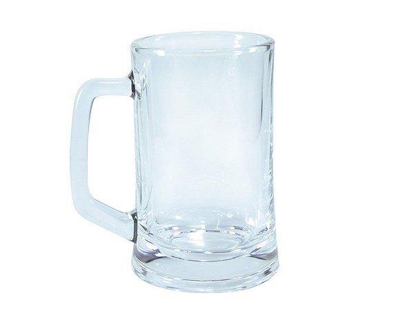 Caneca de Chopp em Vidro Cristal para Sublimação - 360ml