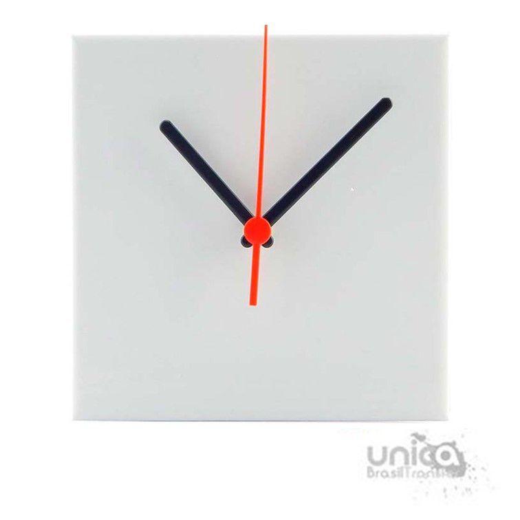 Relógio Azulejo 15x15 fosco