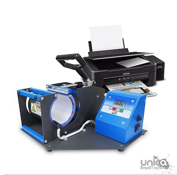 Prensa cilíndrica Livesub + Impressora sublimatica