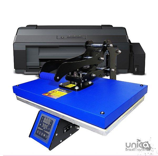 Prensa plana 40x60 Livesub com painel frontal touch screen + Impressora a3 sublimatica