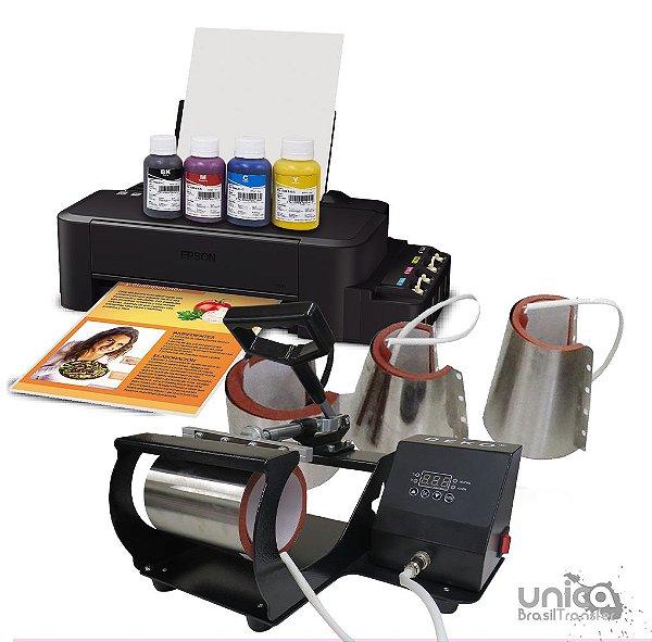 Prensa 4 em 1 Deko + Impressora sublimatica