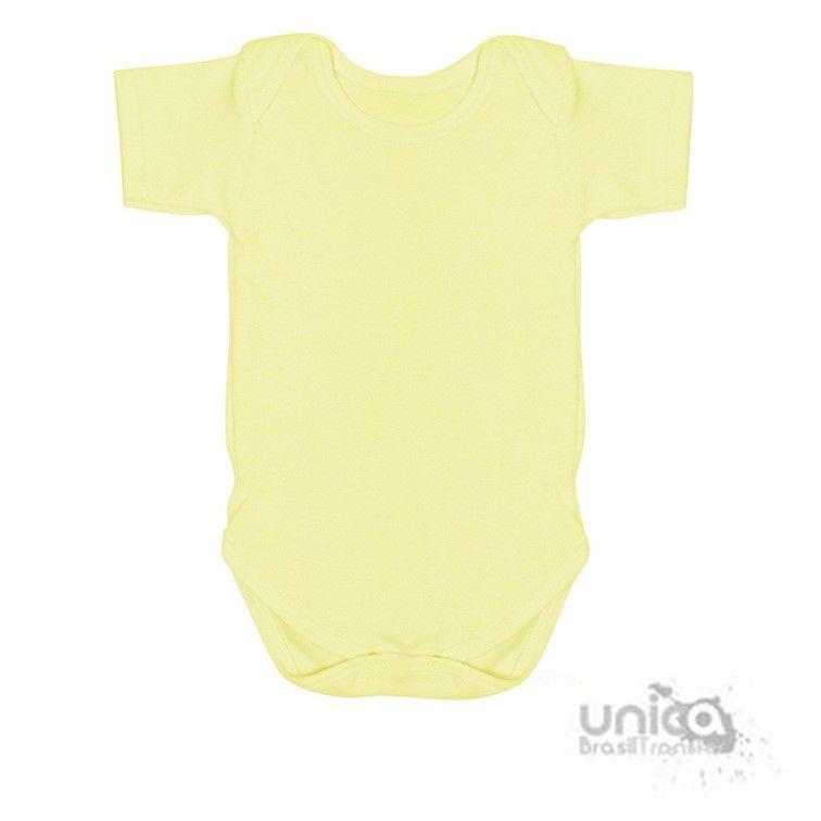 Body Baby Para Sublimação 100% Poliester - Amarelo Bebê