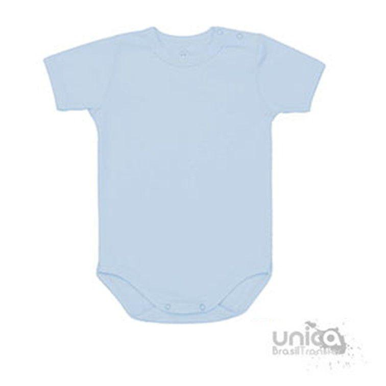 Body Baby Para Sublimação 100% Poliester - Azul bebê