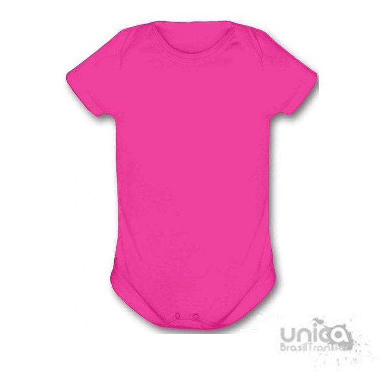 Body Baby Para Sublimação 100% Poliester - Rosa Pink