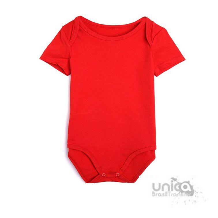 Body Baby Para Sublimação 100% Poliester - Vermelho