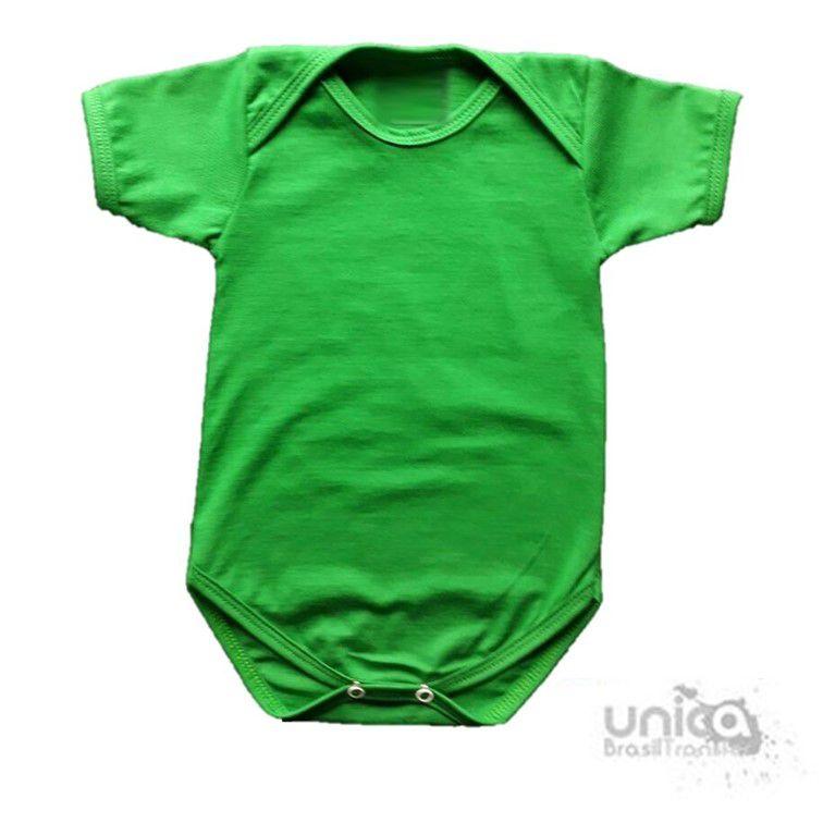 Body Baby Para Sublimação 100% Poliester - Verde