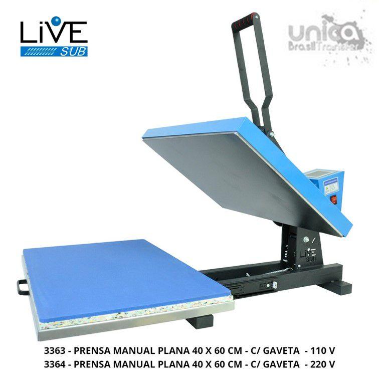 Prensa Plana 40x60 Manual com gaveta - Livesub