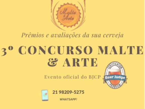 INSCRIÇÃO 3º CONCURSO MALTE E ARTE